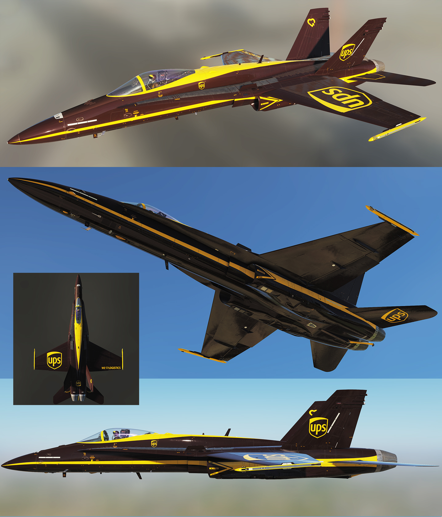 F/A-18C Lot 20 - 2018-2019 RCAF Low Visibility Livery Pack