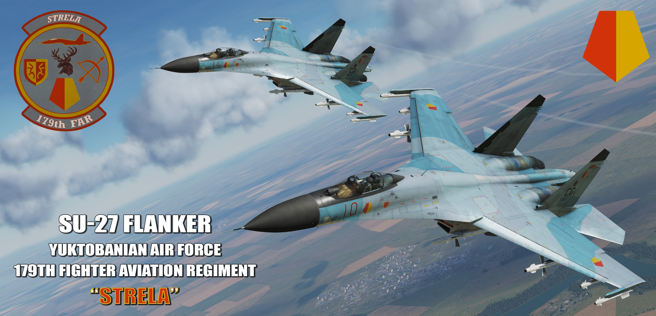 "Ace Combat - Yuktobanian Air Force 179th Fighter Aviation Regiment ""Strela"" SU-27 Flanker"