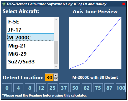 DCS: Detent Calculator Spreadsheet & Software by JC of DI and Bailey
