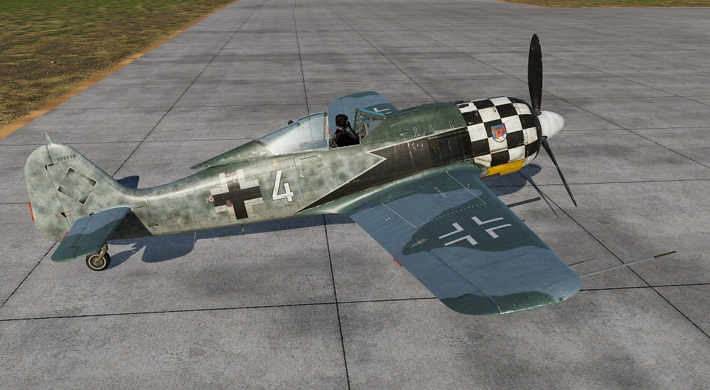 "FW 190 A-8 1./JG1 Nr. 4 ""Checker Nose"""