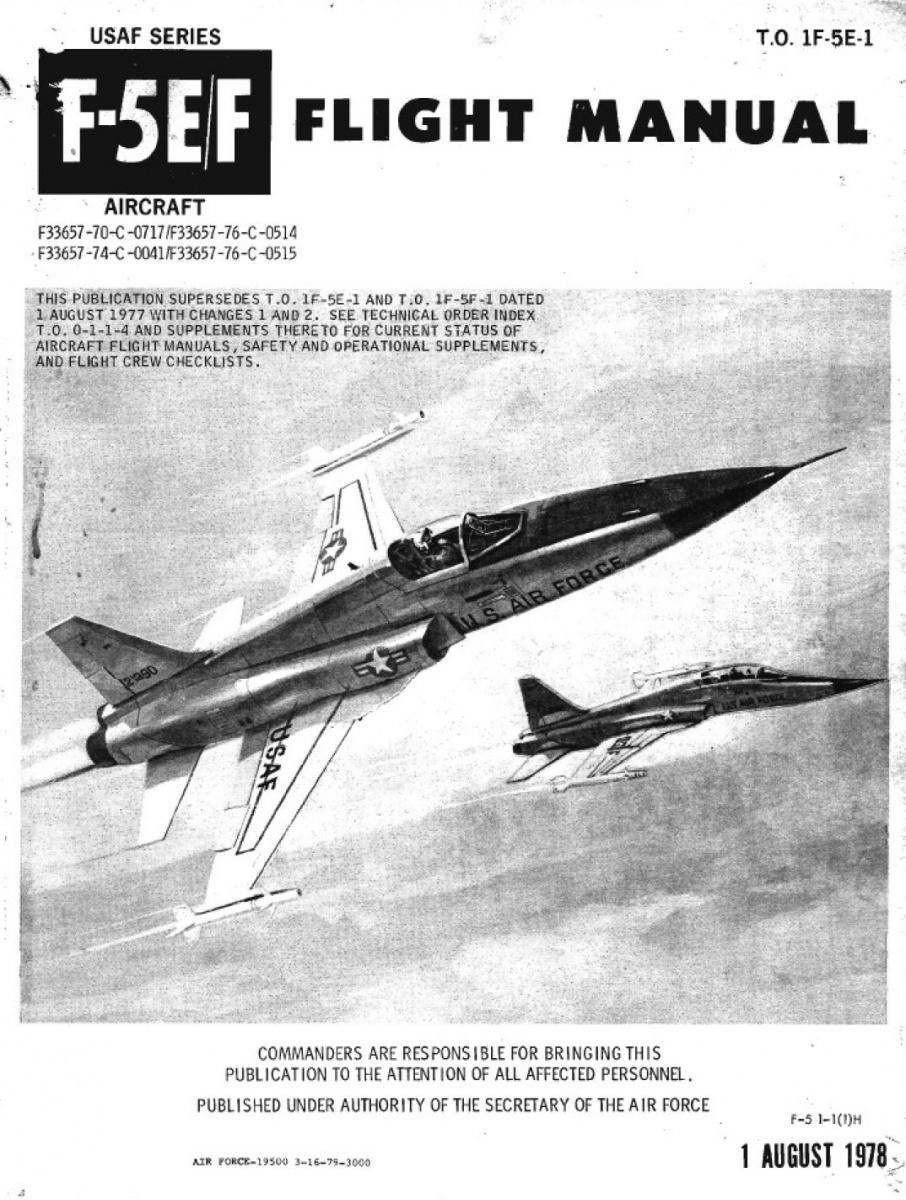 T O  1F-5E-1 (F-5E Manual)