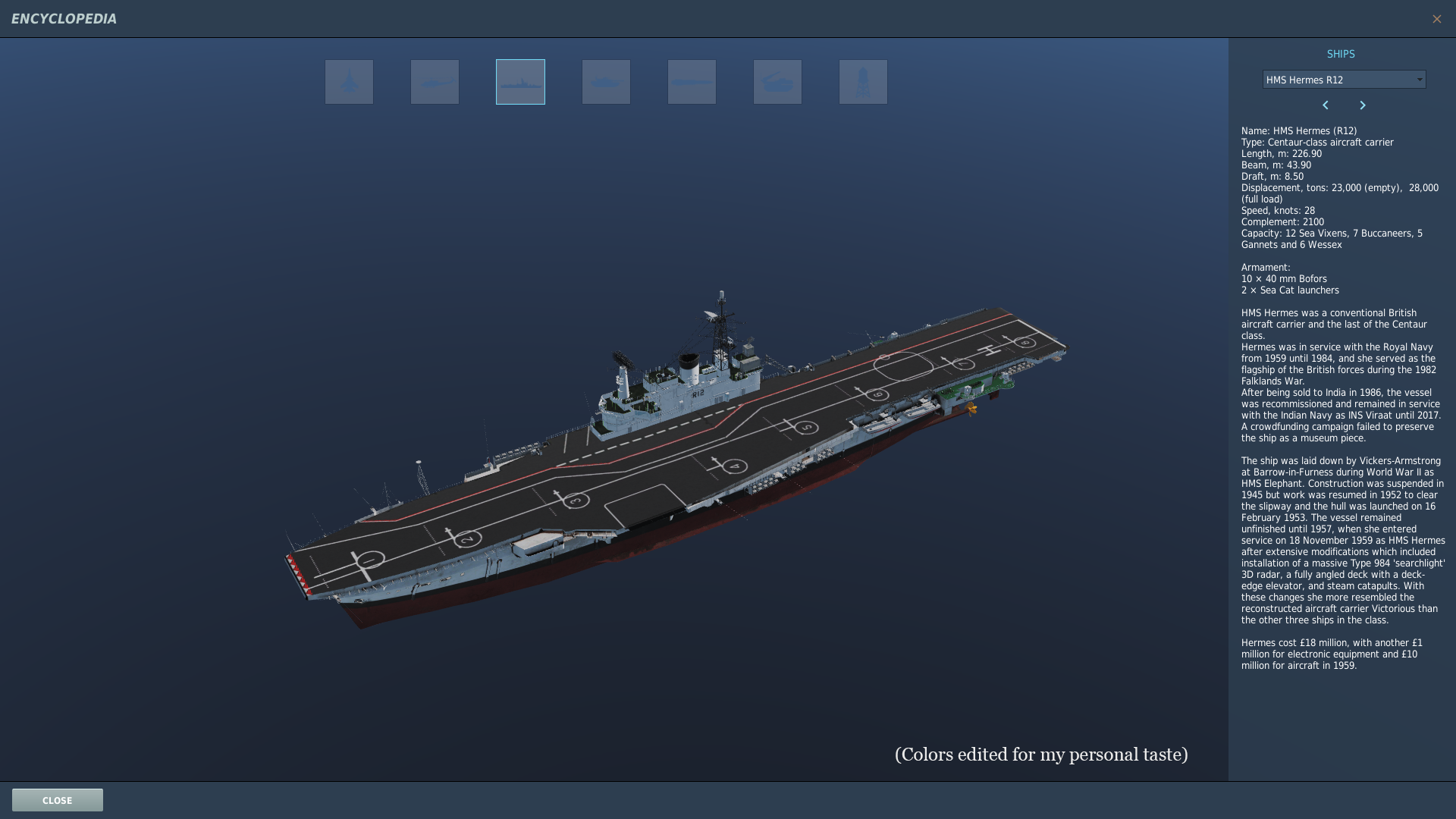 HMS Hermes R12 Version 2 Phase 1 Encyclopedia