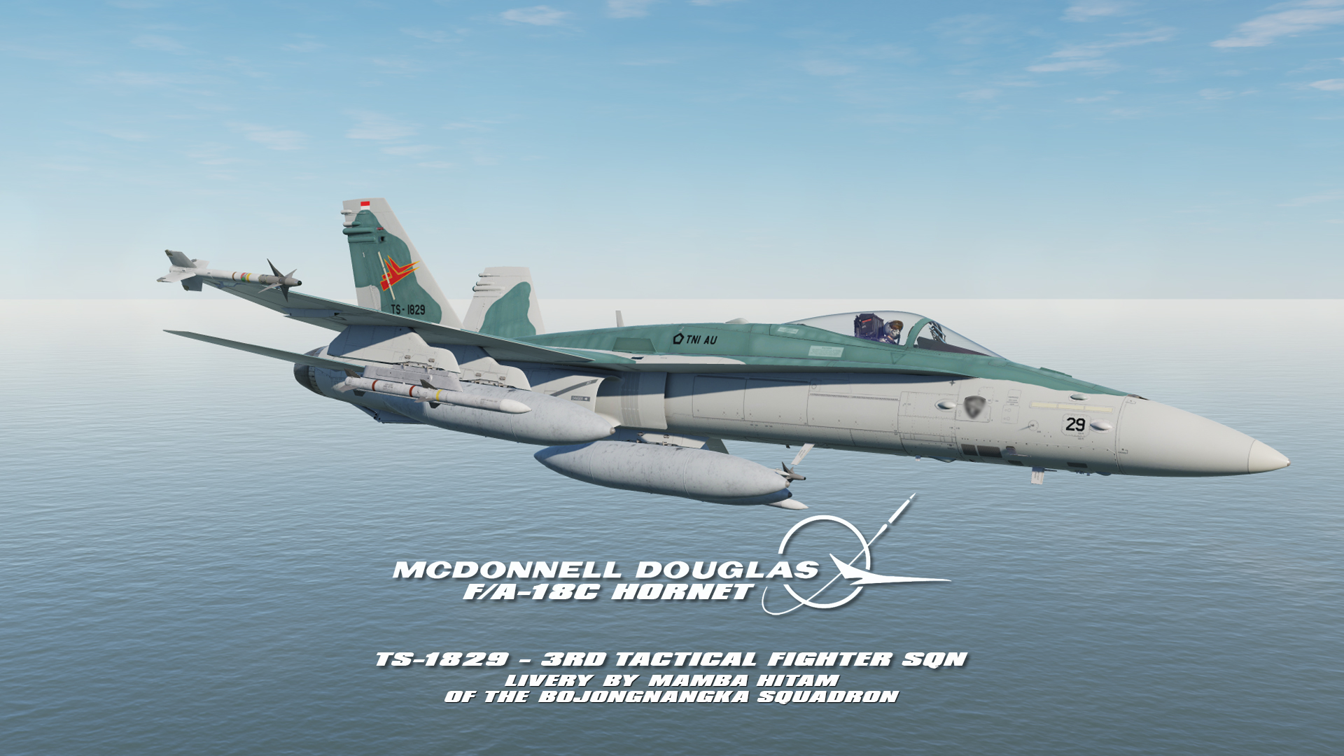 Indonesian Air Force F/A-18C - 3rd TFS Fulcrum Scheme by Mamba Hideung