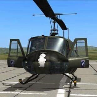 173rd Airborne UH-1H Skin of David Marshall's Casper 6127