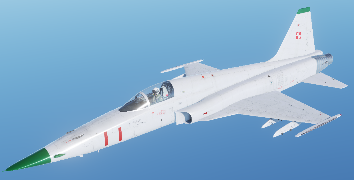 (Fictional) Poland Air Force F-5E-3 skin - Mig-28