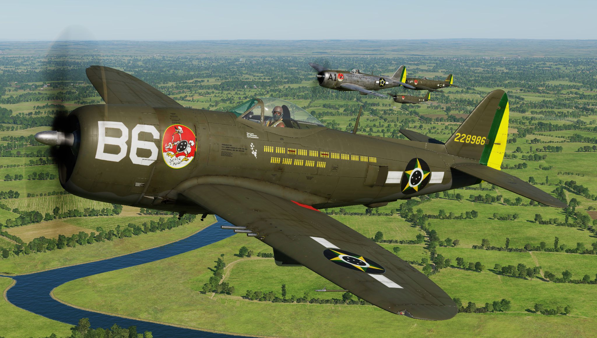 P-47D - 1st Brazilian Ftr Sq-Jambock B6-2nd Lt. Lara (update vs 2.2)