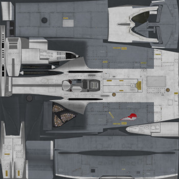 Texture template for Su-24M model