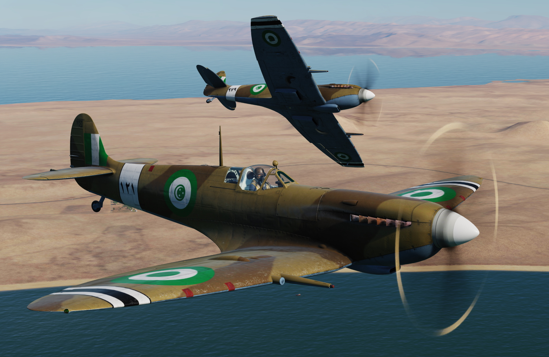 [Spitfire LF Mk.IXc & LF Mk.IXc CW] Egypt Air Force, El Arish, 1948 v3