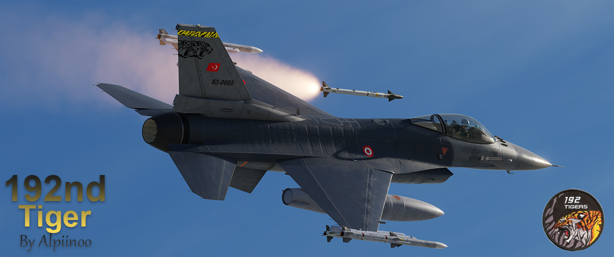 Turkish Air Force (TurAf) F-16C - 192nd Tiger (NEW UPDATE)