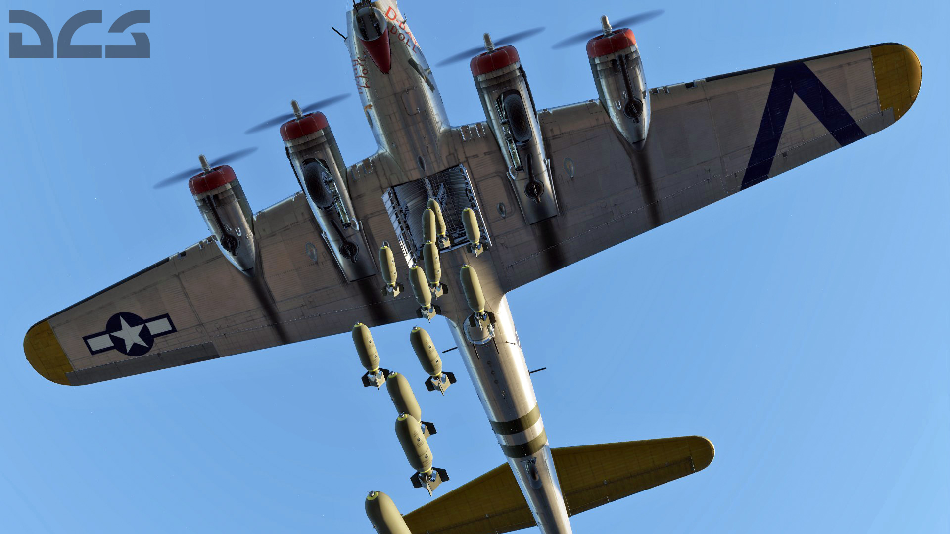 Normandia WW2 B-17G-bombs