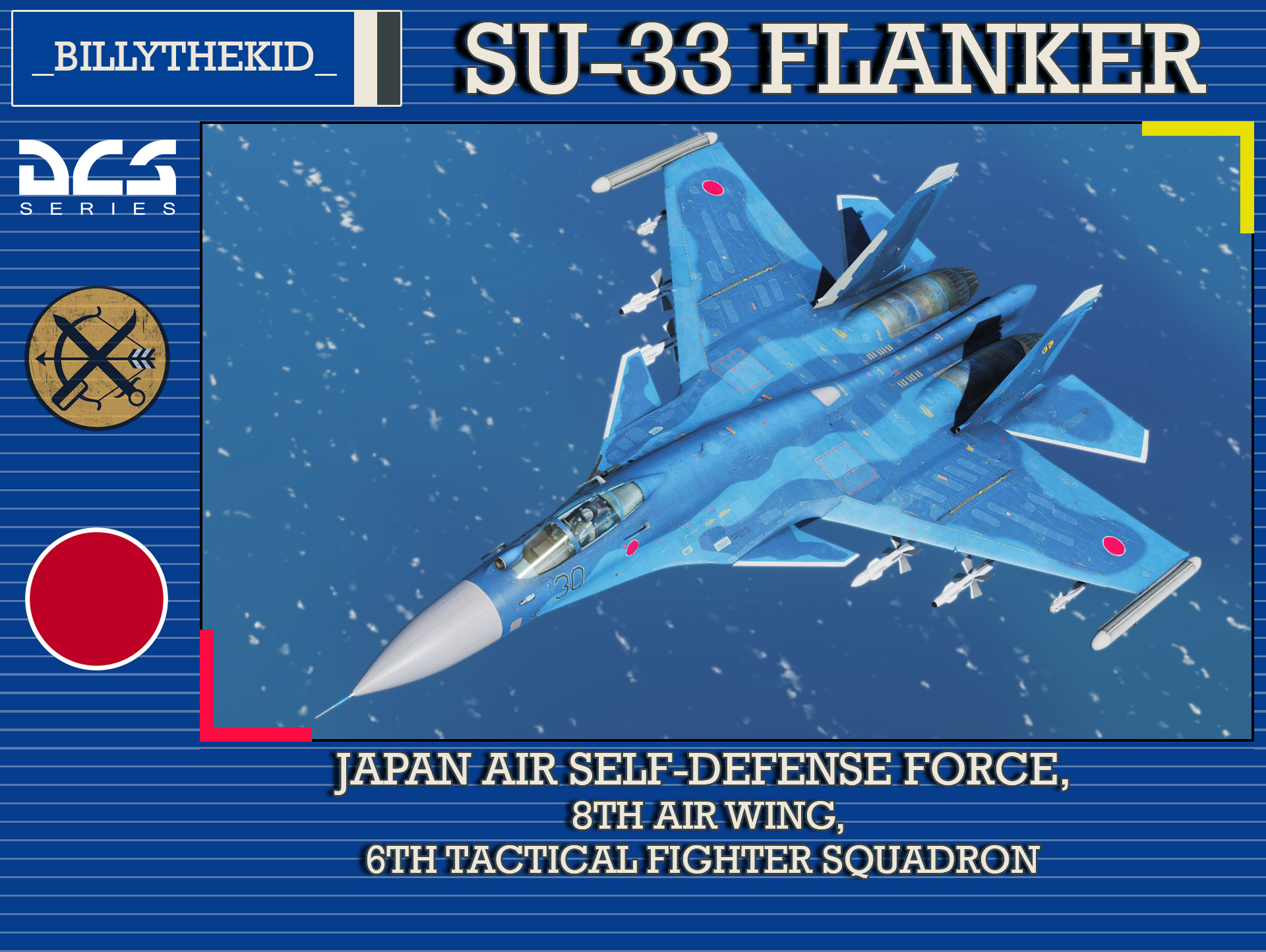 Fictional JASDF 8th Air Wing, 6th Tactical Fighter Squadron SU-33 Flanker
