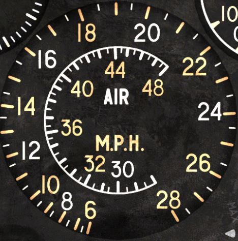 Spitfire High-Contrast Cockpit Gauges