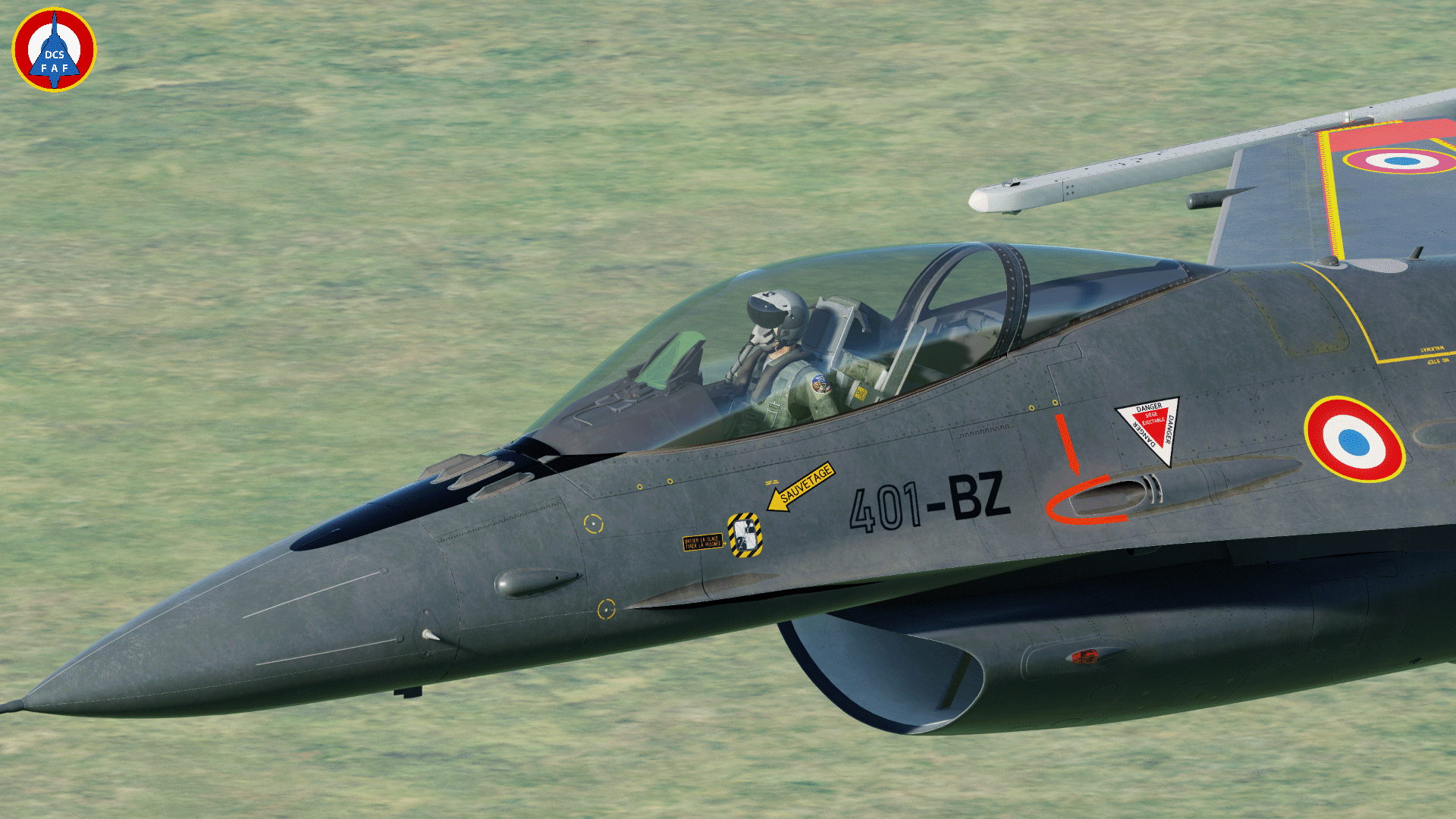 F-16C - French Alphajet tribute livery
