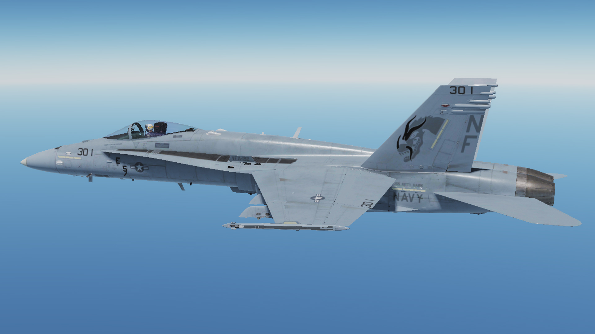 F/A-18C VFA-192 Golden Dragon Skin for line aircraft