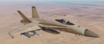 "F/A-18C_Lot20 VFA-37 ""Ragin' Bulls"" Fictional Desert Camo High & Low Visibility (2 Skins)"