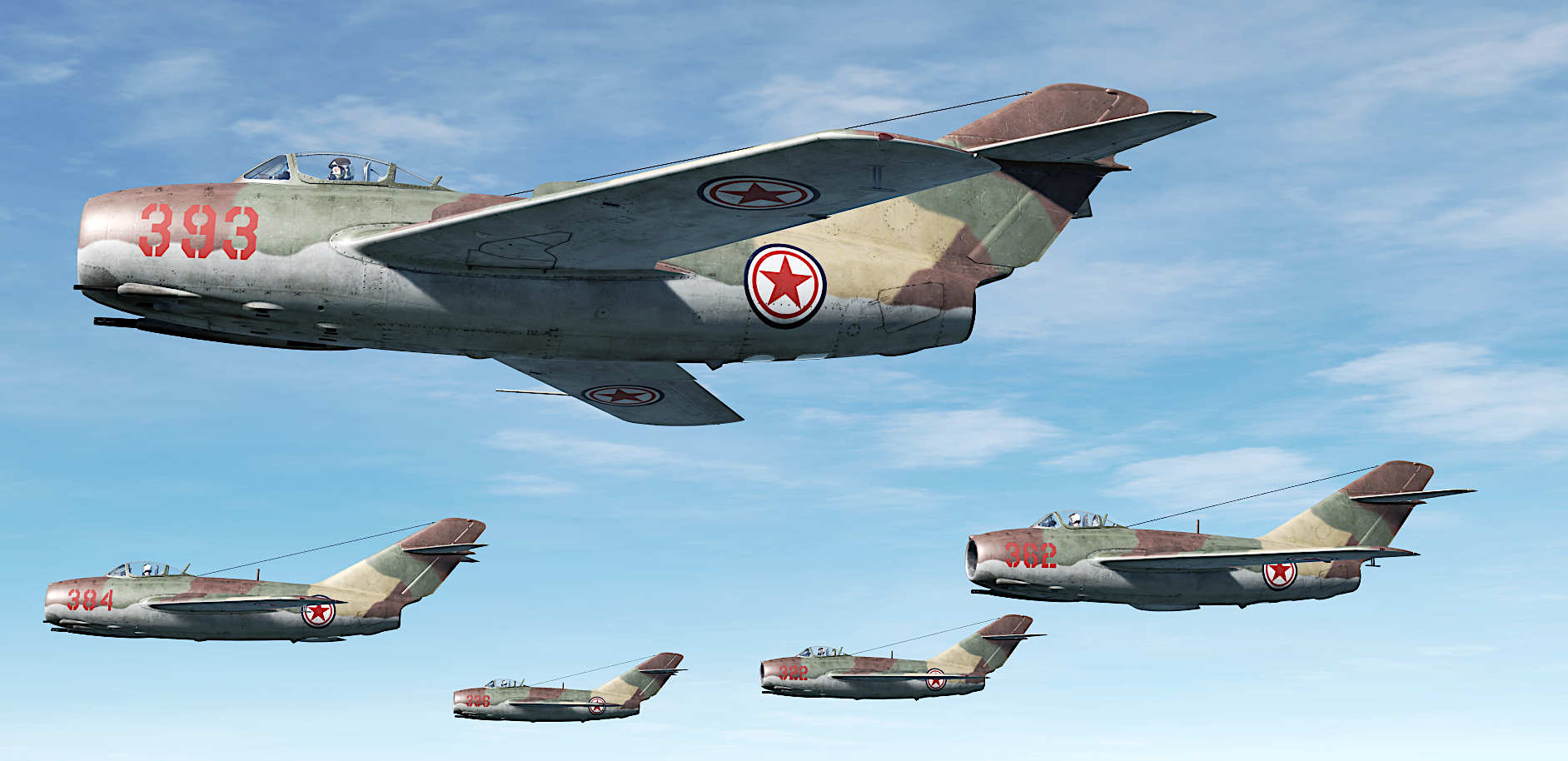 Mig-15 bis North Korea, 32nd Fighter Division, 913th Fighter Regiment, April 1953.