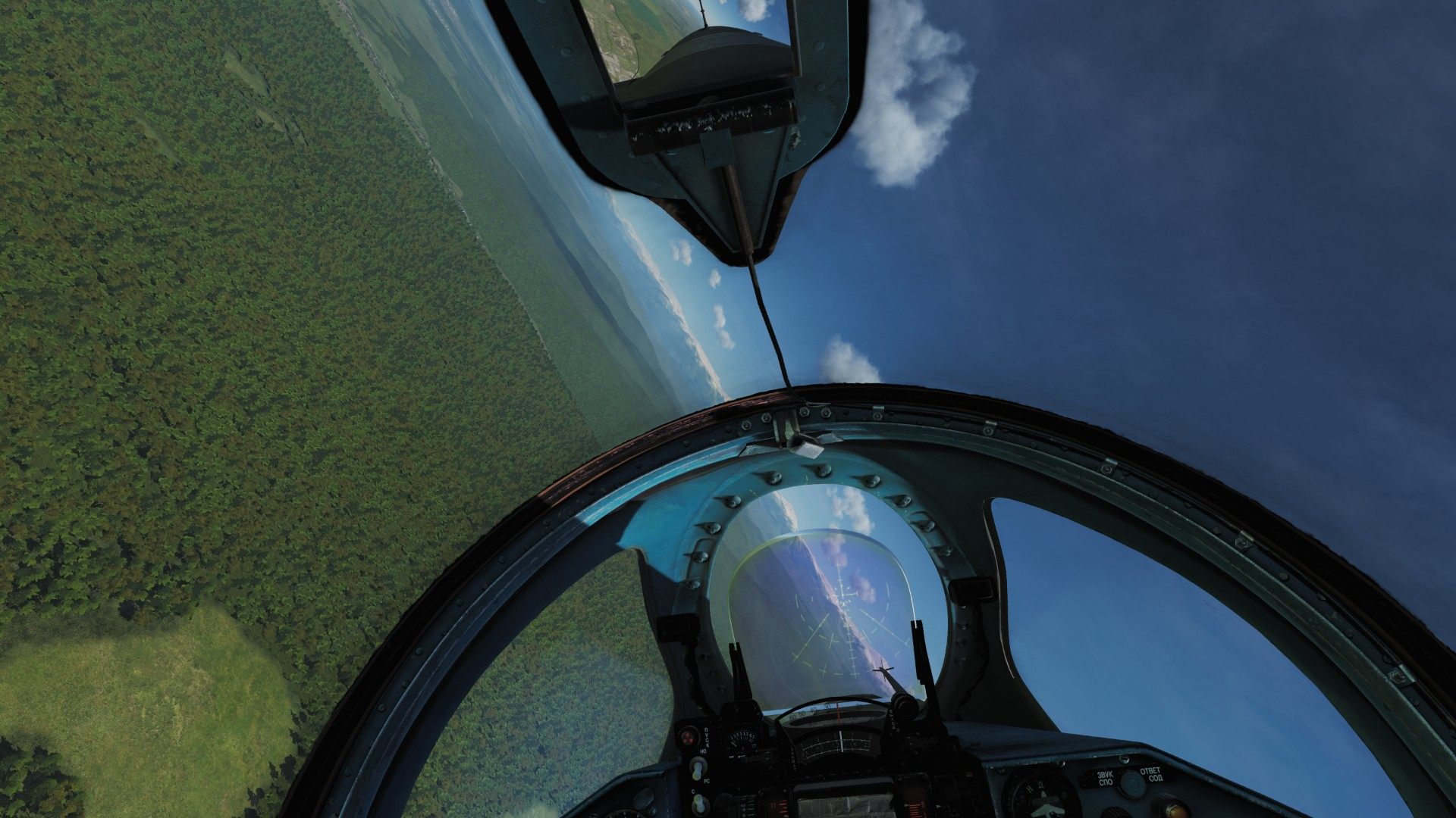 Cleaned Canopy with Interior Reflections for MiG-21bis