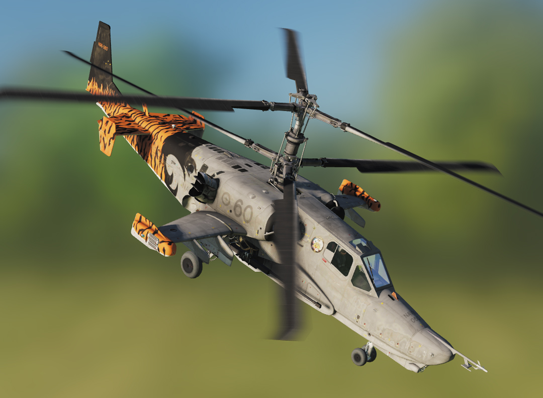 Fictional RAN Ka-50 60th Anniversary Tiger Tail
