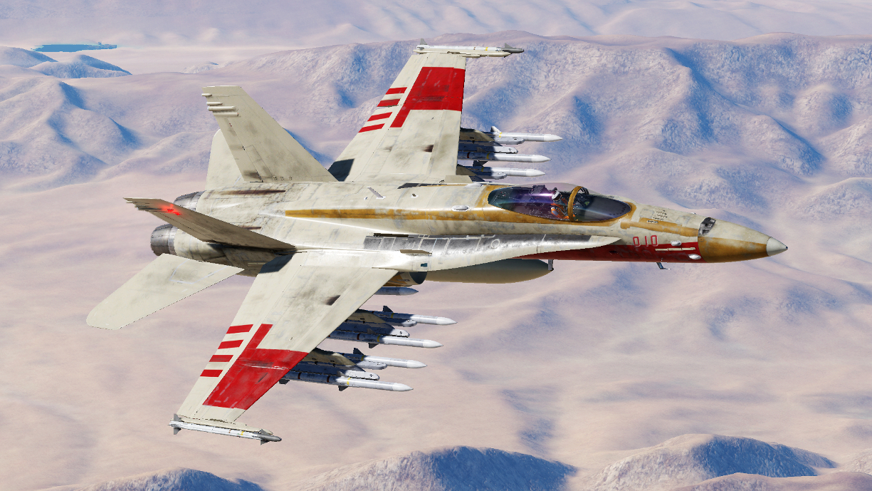 F/A-18C Fictional Livery - Red 4 - John Branon
