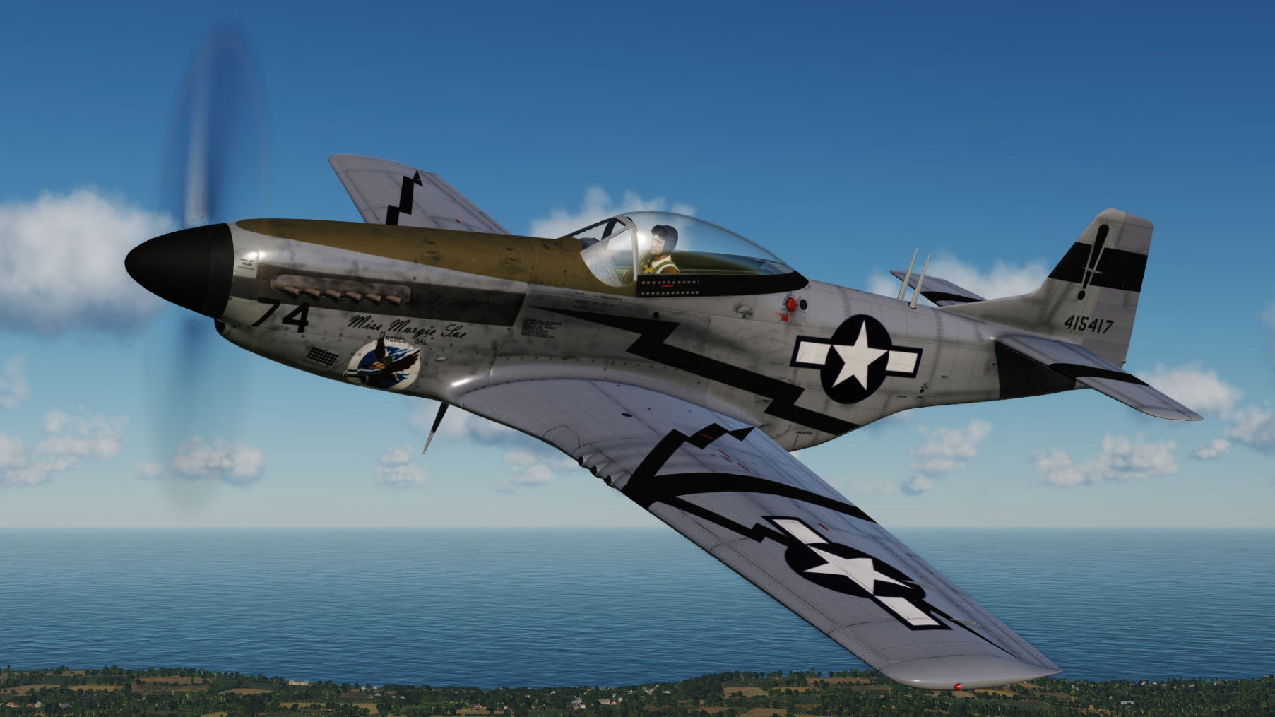 "Miss Margie Sue ""Rebel Gal"" 44-15417 2nd FS, 2nd ACG updated for DCS World 2.5.5"