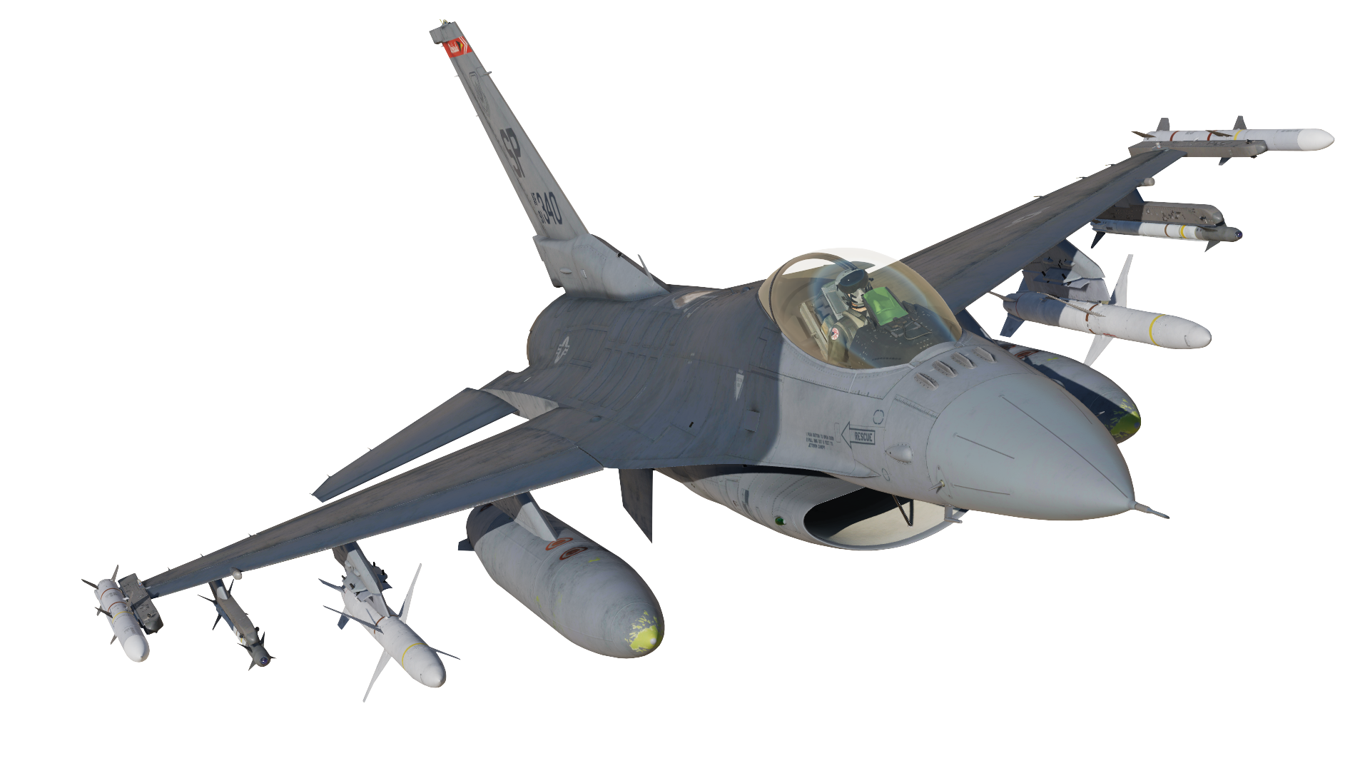 F-16C 480th Fighter Squadron Spangdahlem Clean