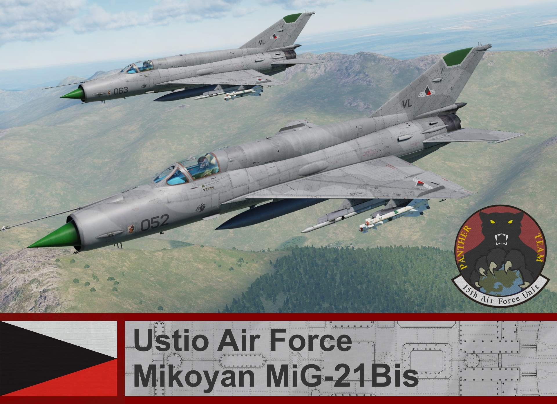 Ustio Air Force Mig-21Bis - Ace Combat Zero (15th AFU) *UPDATED*
