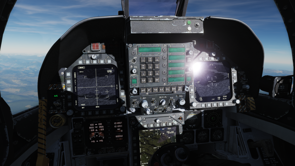 F/A-18C Hornet LCD screens and grayscale FLIR picture - (updated instuctions for 2.5.6)