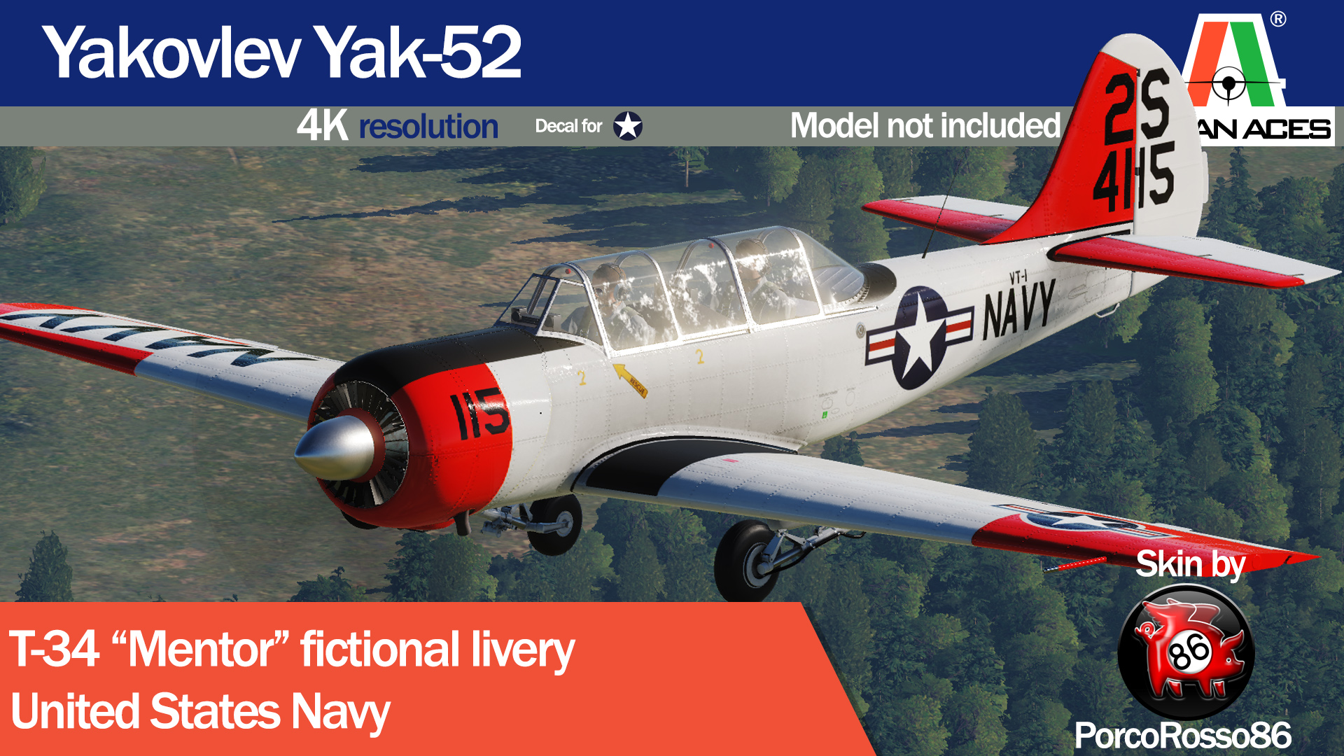T-34 Mentor USN for DCS:Yak-52
