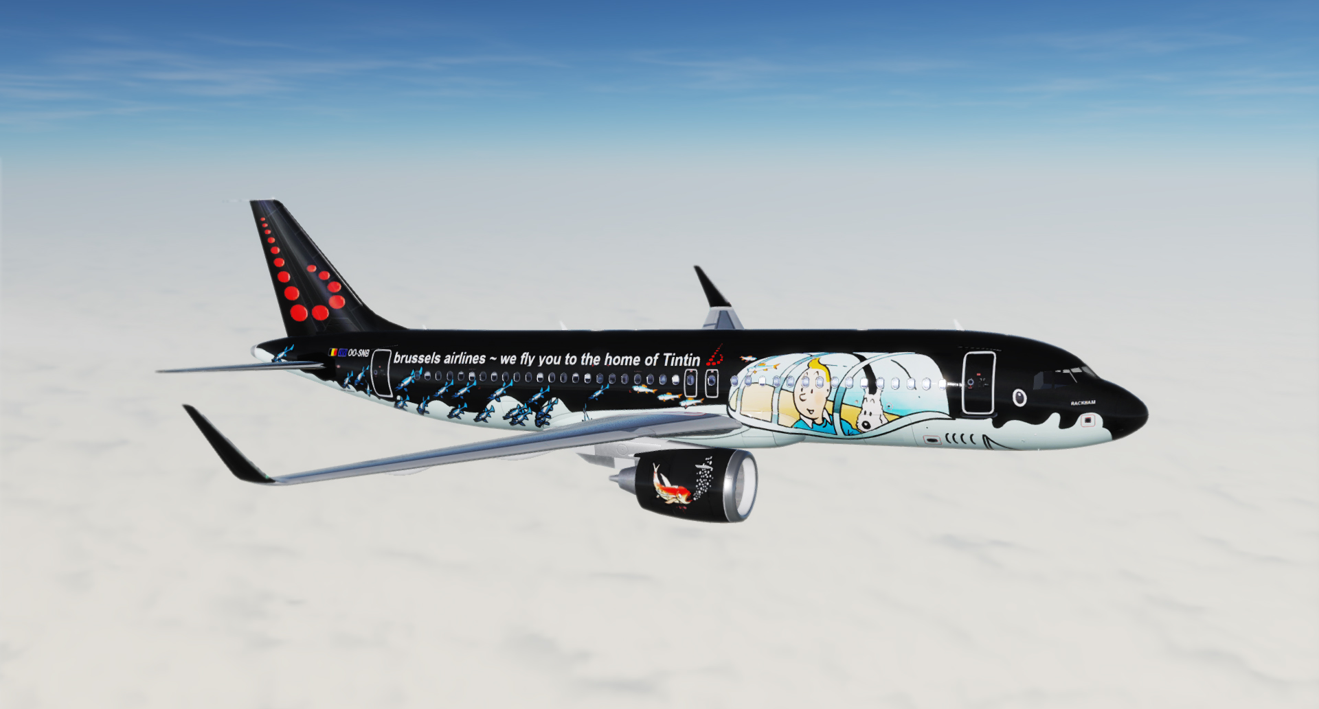 A320 Brussels Airlines Tintin