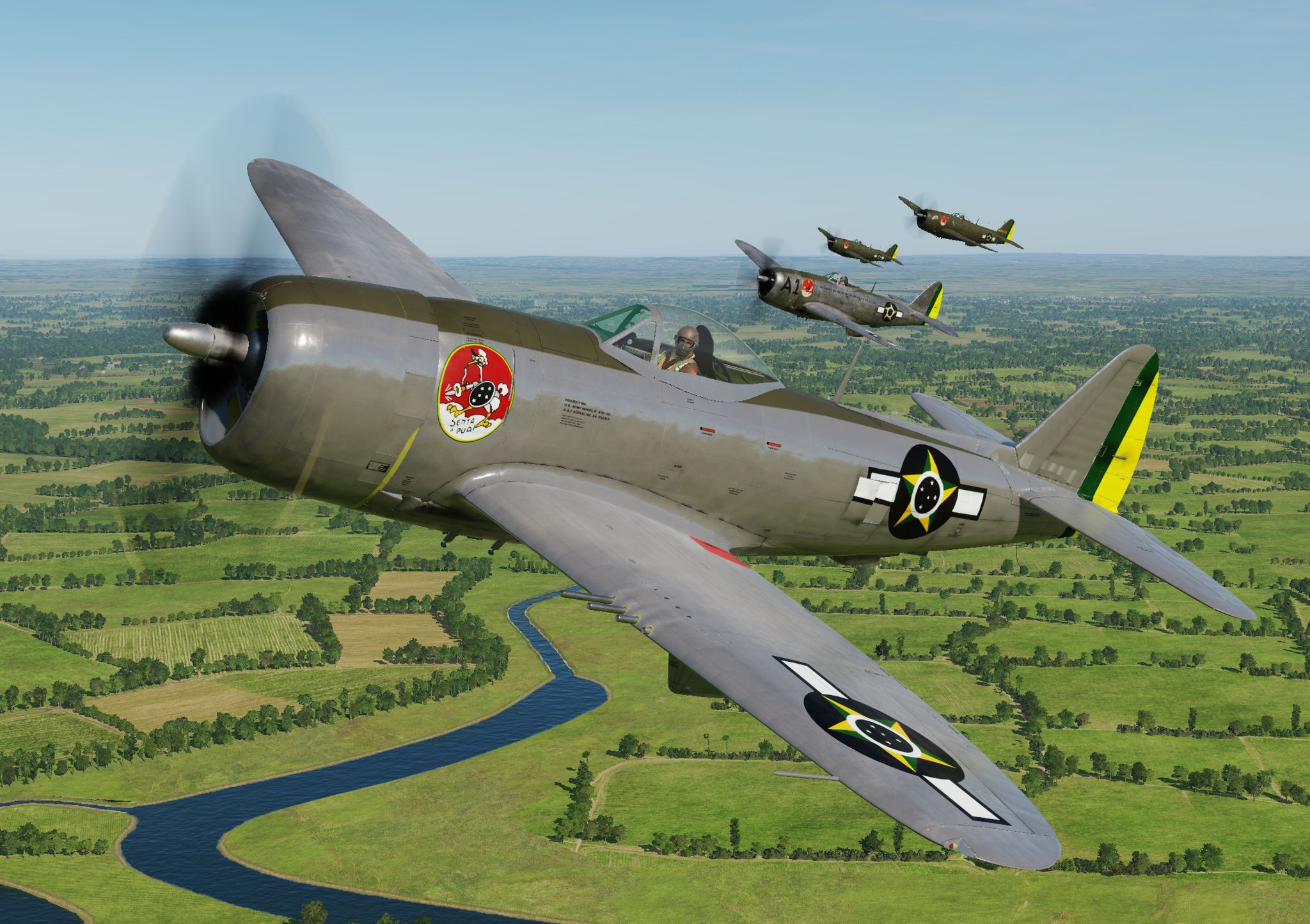P-47D - 1st Brazilian Fighter Squadron - Jambock - Demonstrator Chrome (update vs 2.2)