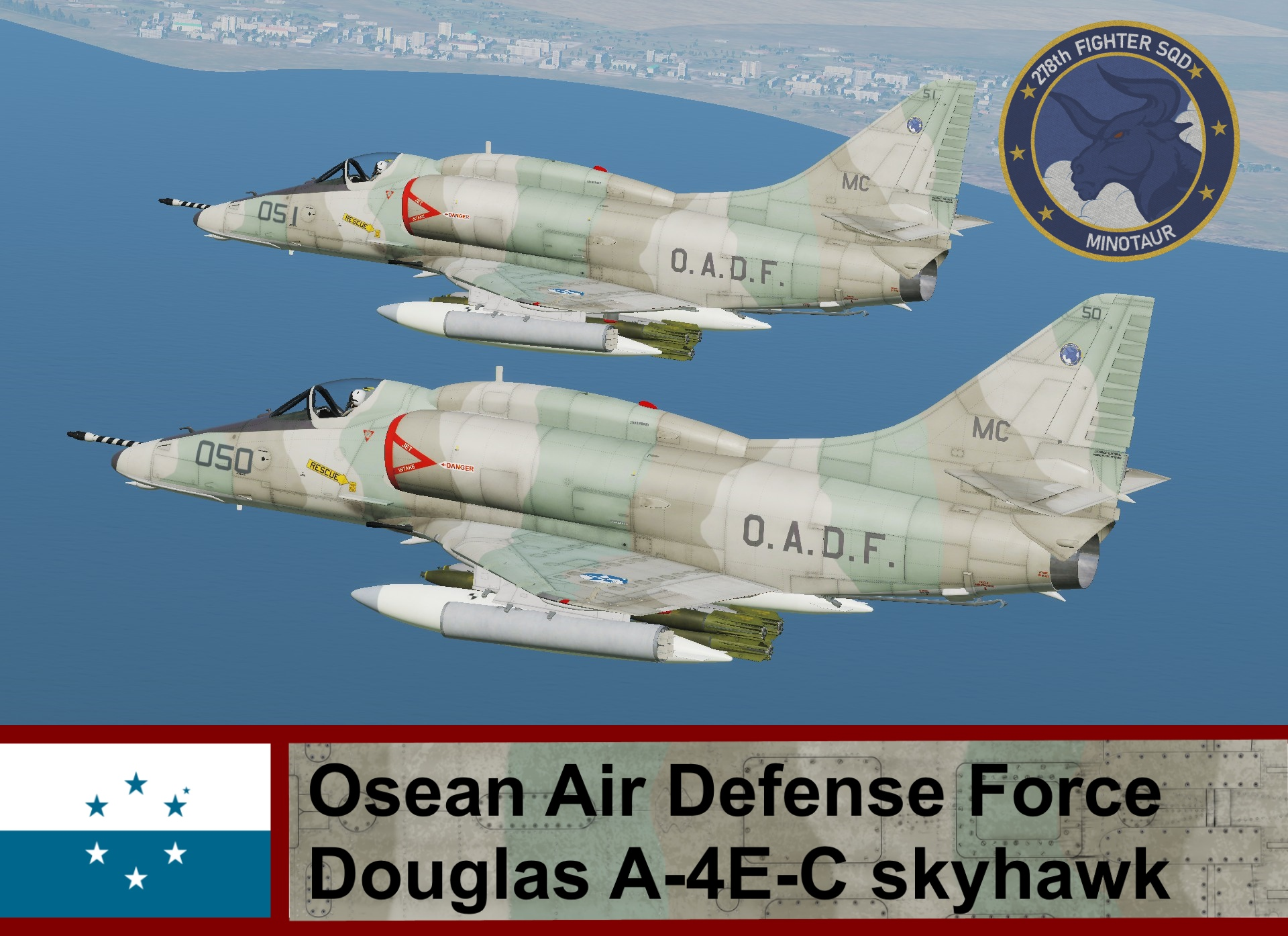 Osean Air Defense Force A-4E-C Skyhawk - Ace Combat (278th TFS)