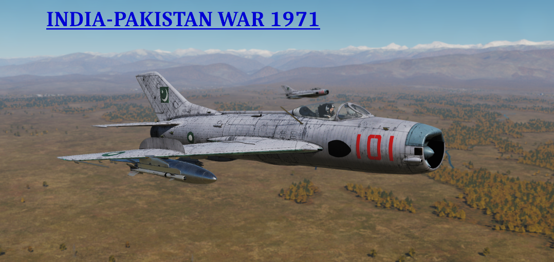 India-Pakistan War 1971 - Shenyang F-6/MiG-19P Campaign RELEASED DCS WORLD version