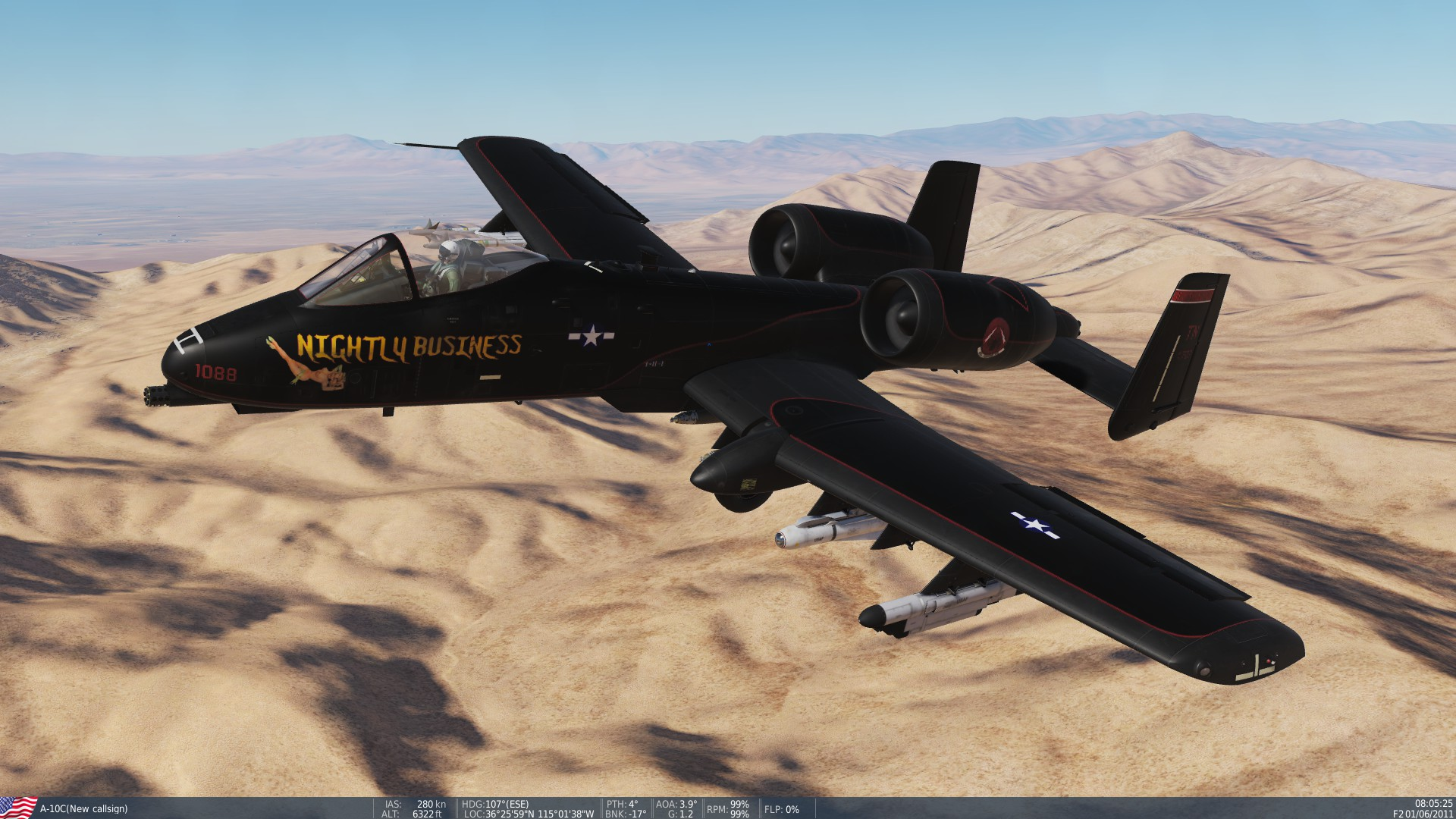 """Nightly Business"" P-61 Tribute Skin for the A-10"