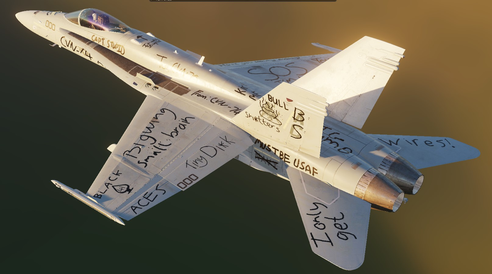 F/A-18C wrong-carrier tags