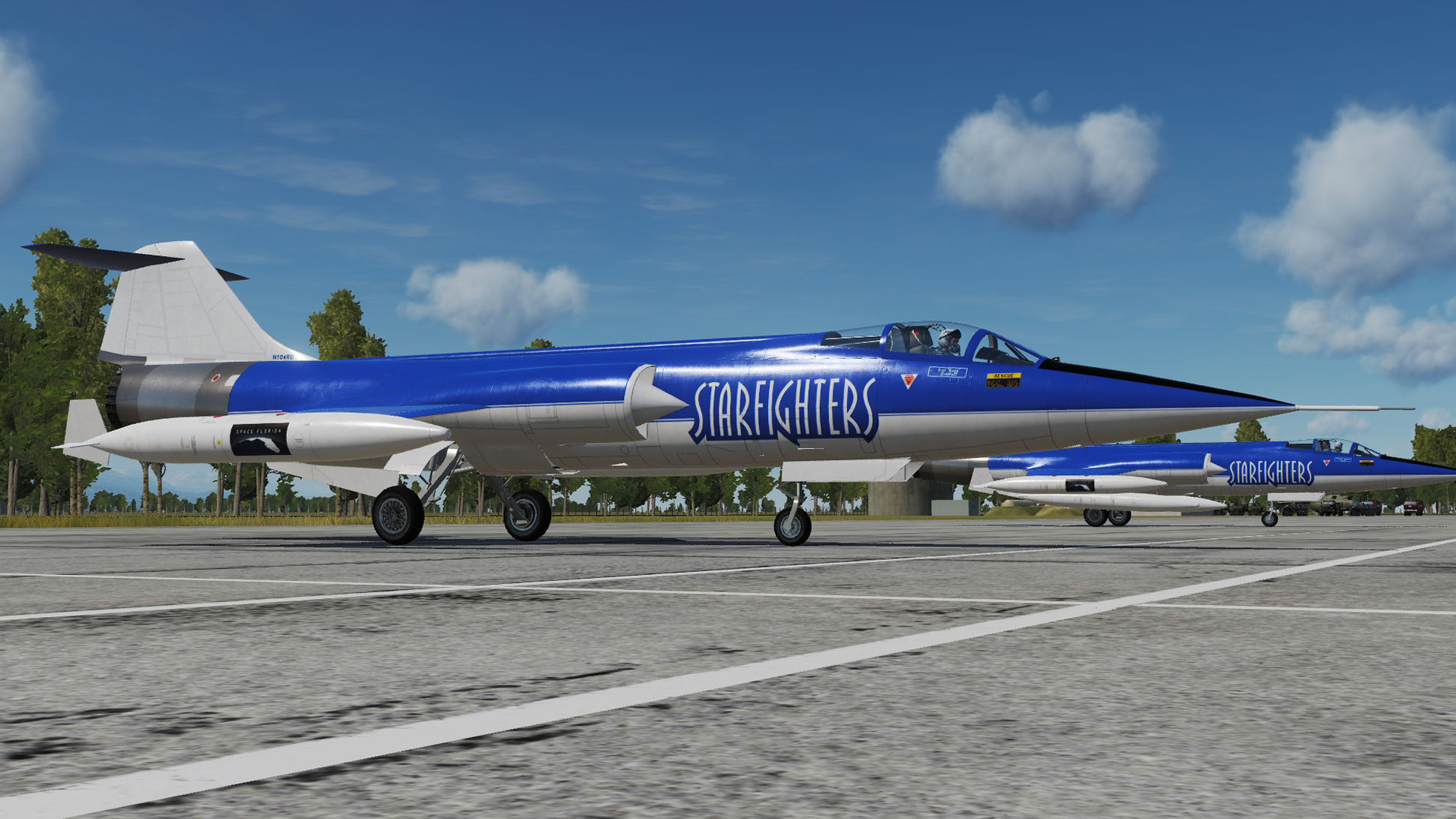 StarFighters DemoTeam 2x F-104G livery for the VSN F104 Mod. Version 2.