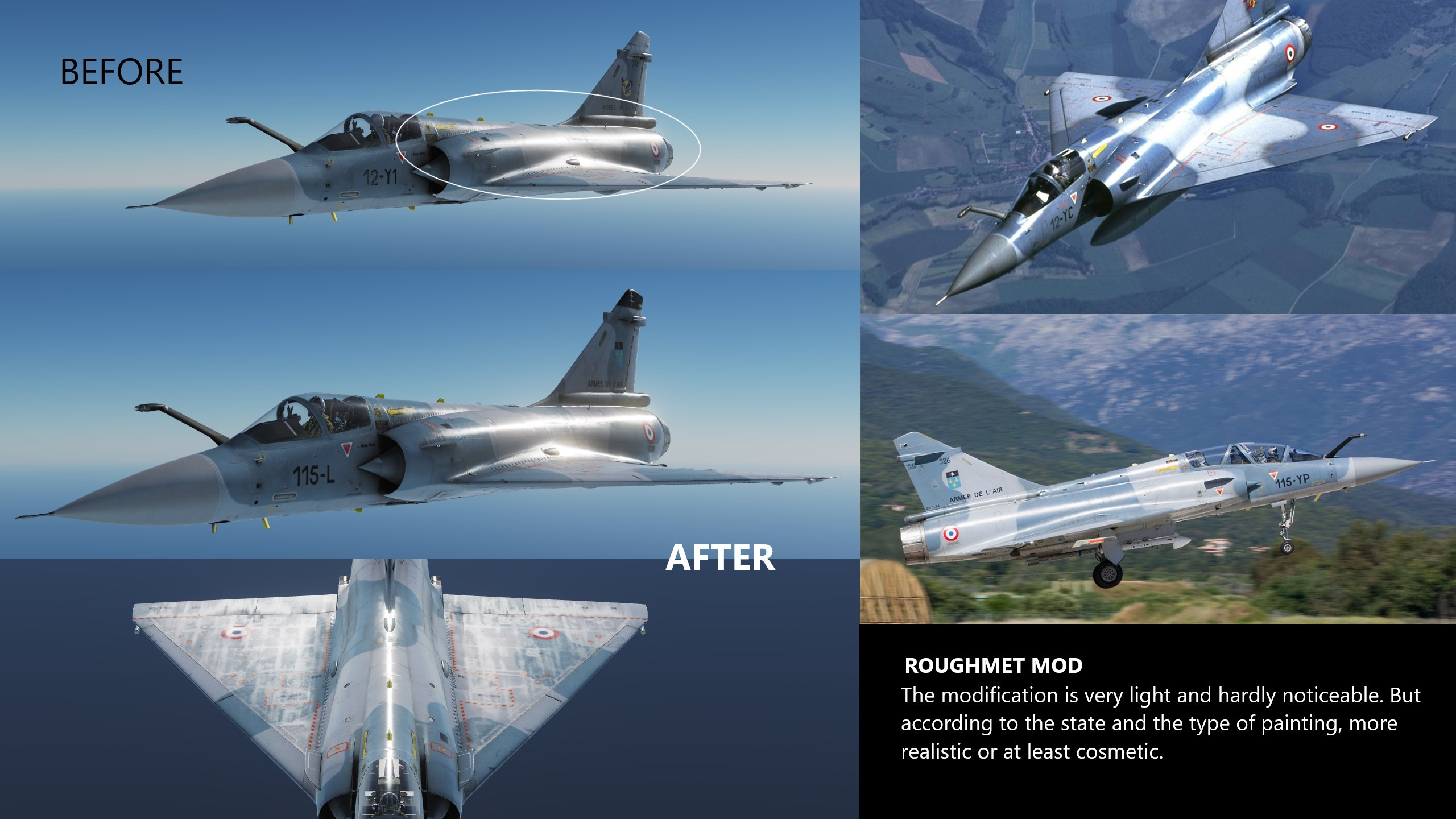 Roughness improve Liverie/Mod for Mirage 2000C (JSGME Ready Liverie)