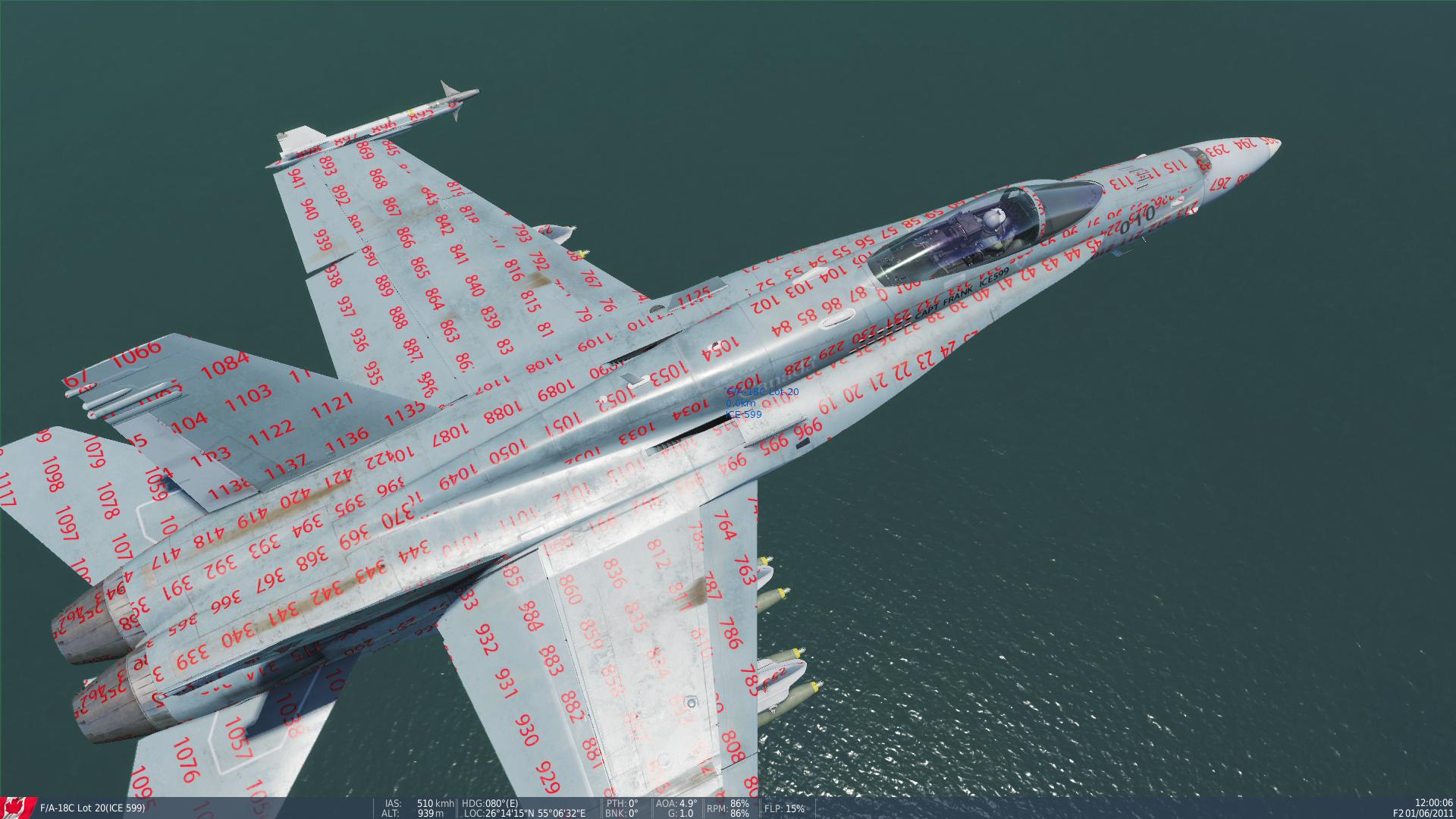 F18 TEMPLATES WITH NUMBERS
