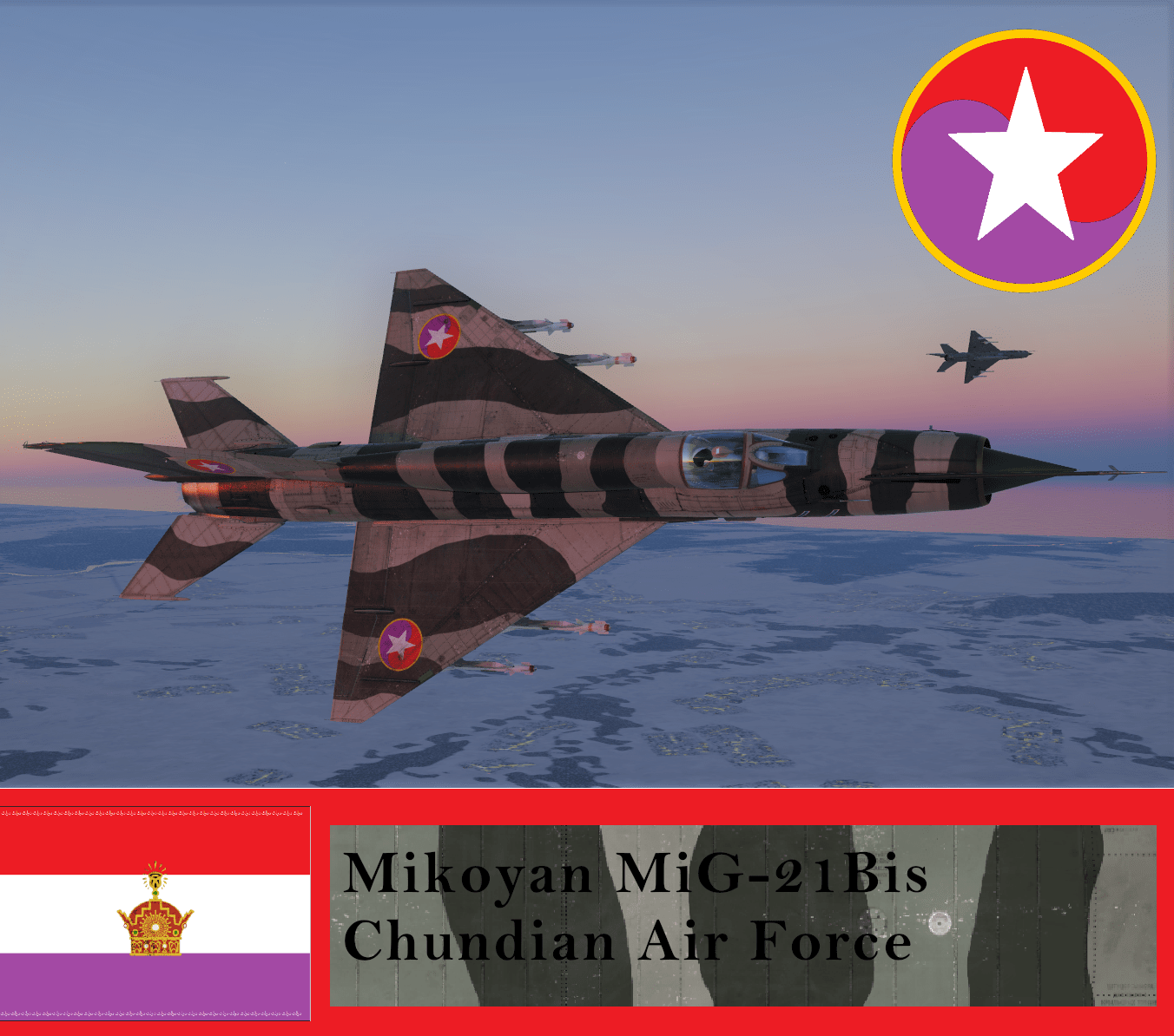 MiG-21Bis Chundian Air Force (Fictional)