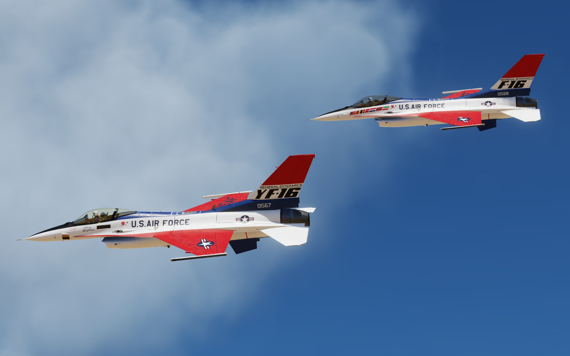 General Dynamics YF-16 Prototype Livery Pack v1.1