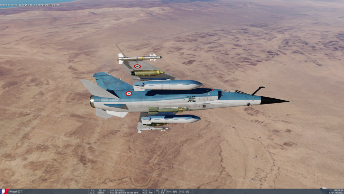 Mirage F1 Blue used livery with used paint for the RP 35 tanks