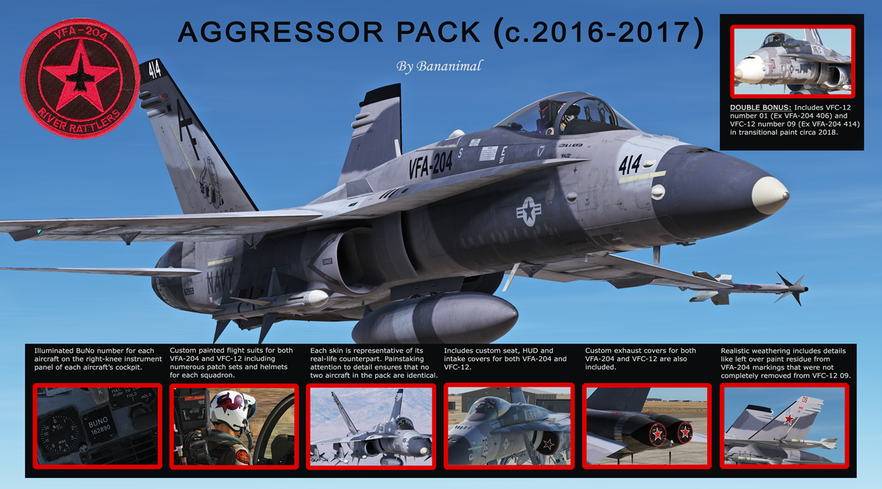 "VFA-204 ""River Rattlers"" Adversaries (c.2016-2017) Part 1/2"