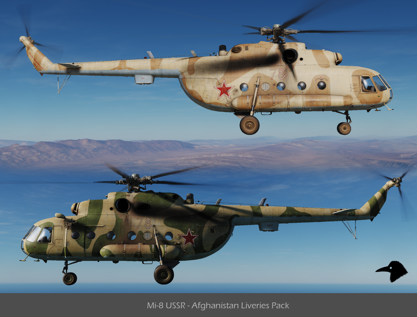 Mi-8 USSR - Afghanistan Liveries Pack v01