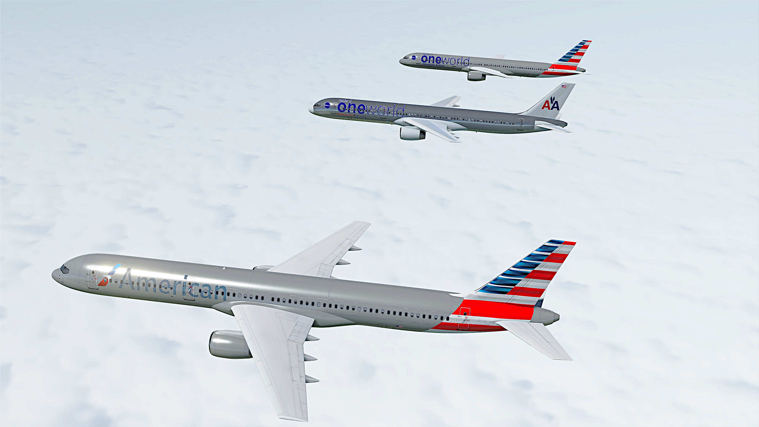 American Airlines 757-200 (New Livery)  Skin pack  for Civilian Aircraft Mod.