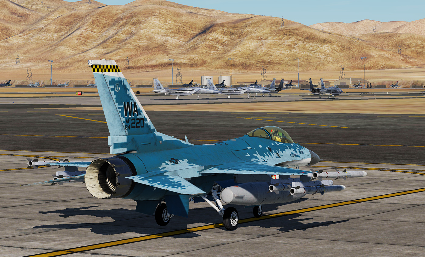 F-16C - 64th Aggressor Squadron 'Ghost'