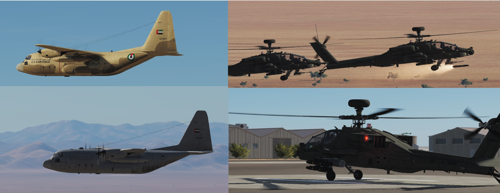 UAE C-130 Two Pack + UAE Army AH-64D
