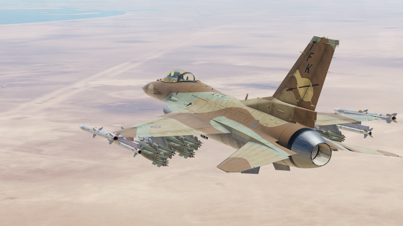 "Official ""The Flying Kiwis"" F-16C Viper METO (Middle Eastern Theatre of Operations) skin"