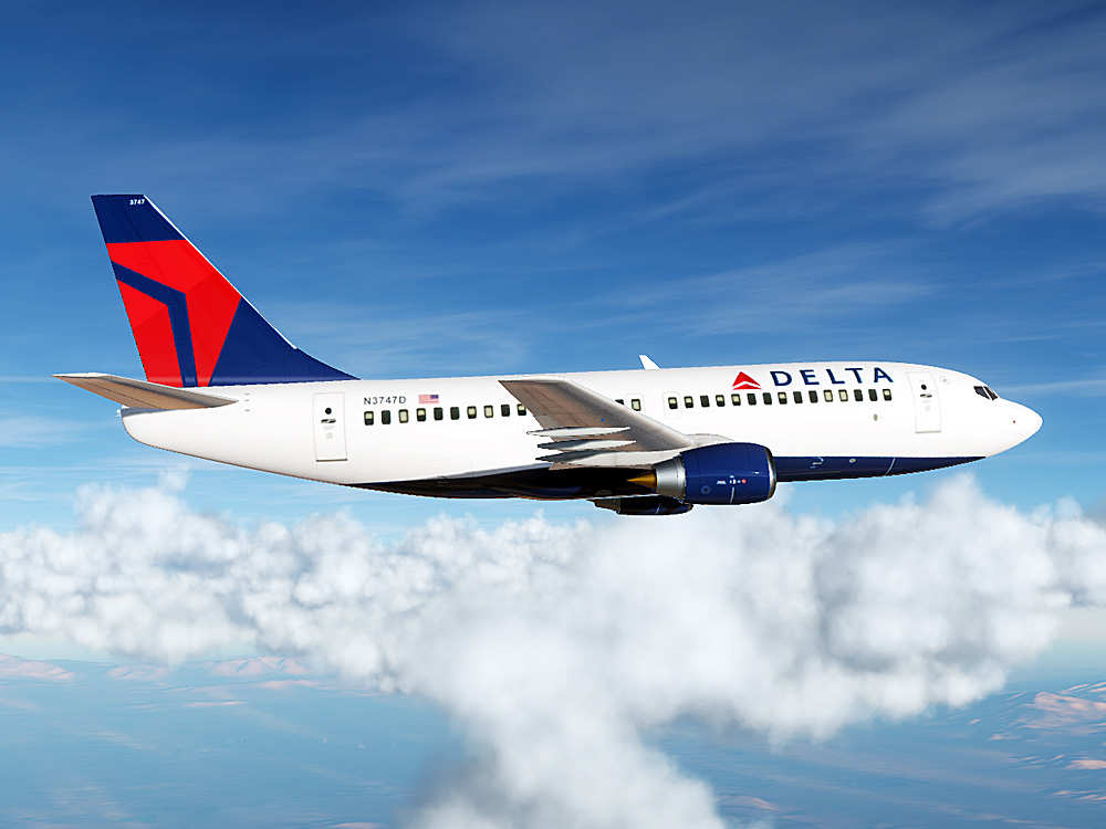 Delta Airlines Boeing 737 (Modern Paint for Civil Aircraft Mod)