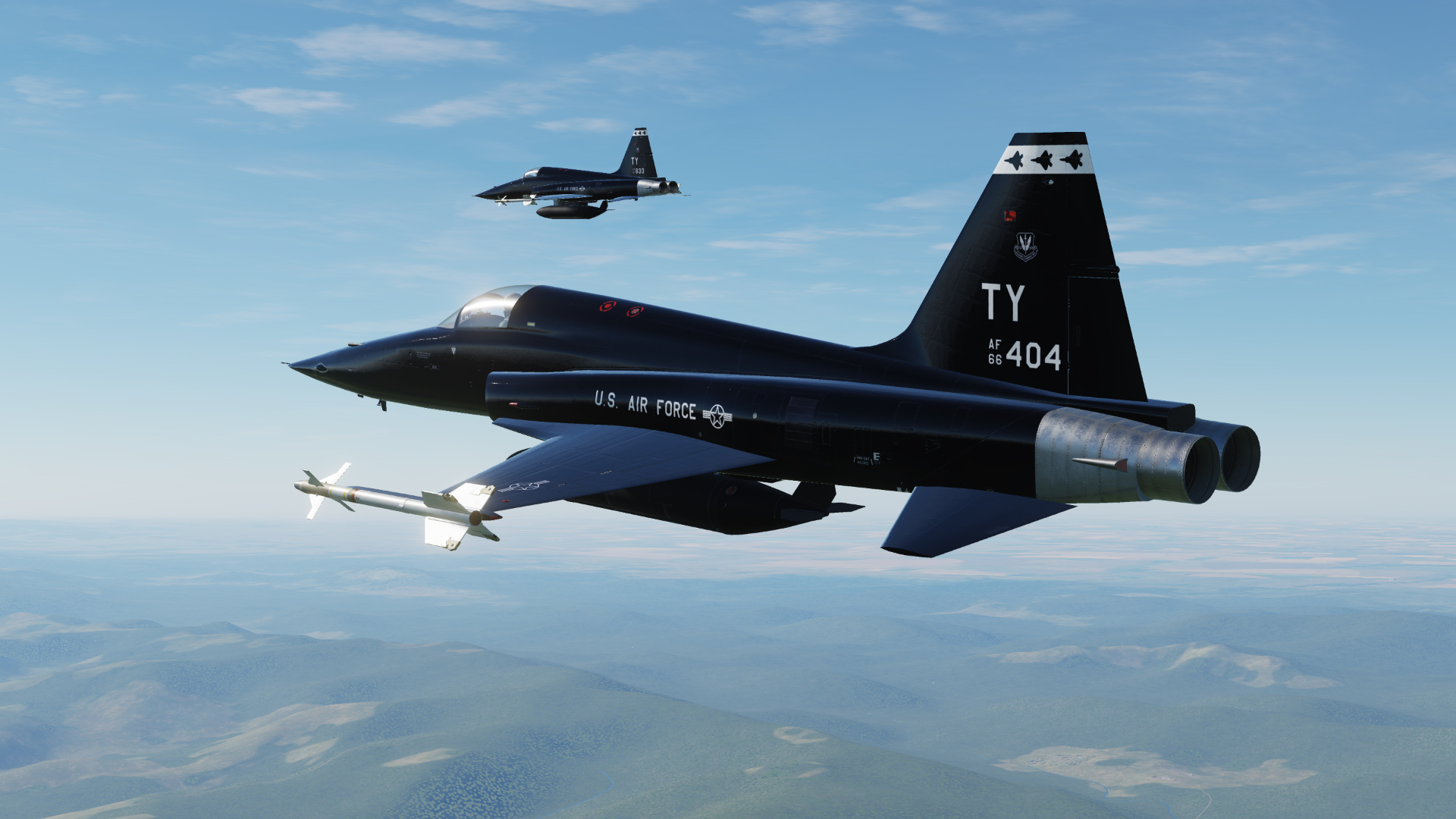 T-38 style F-5E 2 pack. 2nd Fighter Training Squadron, 325 Fighter Wing, Tyndall AFB, FL