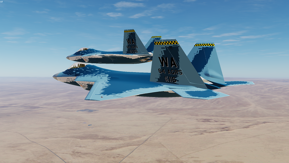 "Community F-22A (Fictional) ""Ghost"" Repaint (64th Aggressor Squadron)"