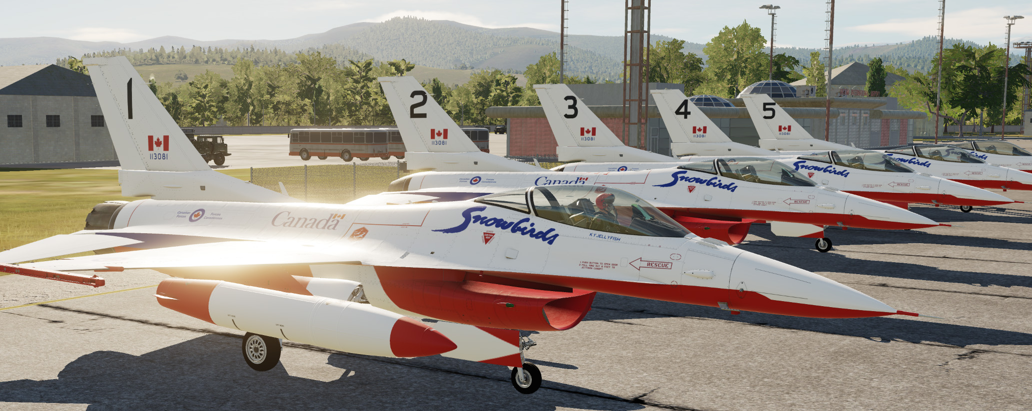 Snowbirds F-16 (FICTIONAL)